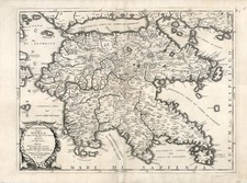 Europe, Greece and Balearic Islands Map By Vincenzo Maria Coronelli