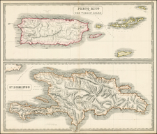 Caribbean Map By George Philip  &  Son