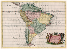 South America Map By Giacomo Giovanni Rossi