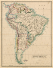 South America Map By George Philip  &  Son