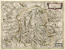 Europe and France Map By Willem Janszoon Blaeu