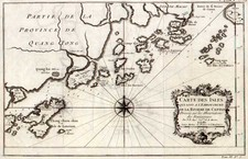 Asia, China and Southeast Asia Map By Jacques Nicolas Bellin