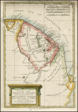 South America and Guianas & Suriname Map By Willem Albert Bachienne