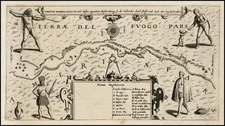 South America Map By Theodor De Bry