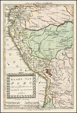 South America Map By Willem Albert Bachienne