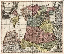 Europe, Poland, Russia and Baltic Countries Map By Matthaus Seutter
