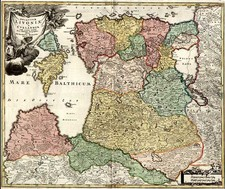 Europe, Poland, Baltic Countries and Scandinavia Map By Johann Baptist Homann
