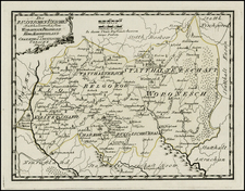 Russia and Ukraine Map By Franz Johann Joseph von Reilly