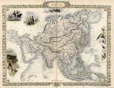 Asia and Asia Map By John Tallis