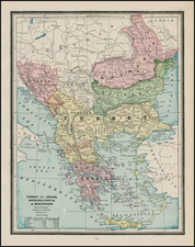 Europe, Baltic Countries, Greece and Turkey Map By George F. Cram