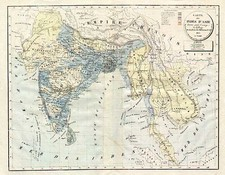 Asia, China, India, Southeast Asia and Central Asia & Caucasus Map By H. Selves