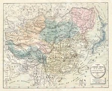 Asia, China, Japan, Korea and Central Asia & Caucasus Map By H. Selves