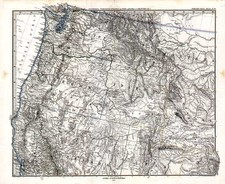 Plains, Rocky Mountains and California Map By Adolf Stieler