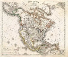 Texas and North America Map By Dr. F.W. Streit