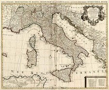 Europe and Italy Map By Johannes Covens  &  Cornelis Mortier