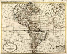 South America and America Map By Johannes Covens  &  Cornelis Mortier