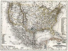 United States and Mexico Map By Carl Radefeld