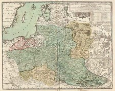 Europe, Germany, Poland, Russia and Baltic Countries Map By Louis Charles Desnos