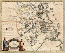 Asia and China Map By Willem Janszoon Blaeu