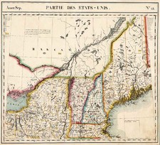 New England Map By Philippe Marie Vandermaelen