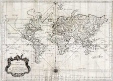 World, World, Australia & Oceania, Australia and New Zealand Map By Jacques Nicolas Bellin