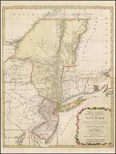 New England and Mid-Atlantic Map By Homann Heirs / Claude Joseph Sauthier