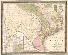 Texas and Southwest Map By Thomas, Cowperthwait & Co.