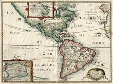 South America and America Map By Melchior Tavernier  &  Petrus Bertius