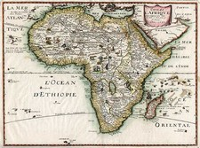 Africa and Africa Map By Melchior Tavernier  &  Petrus Bertius