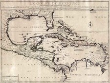 South, Southeast, Texas and Caribbean Map By Nicolas de Fer