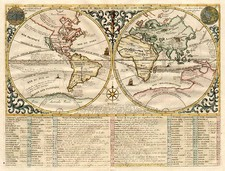 World, World, Curiosities and Celestial Maps Map By Henri Chatelain
