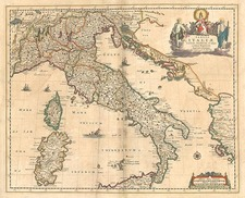 Europe, Balkans, Italy, Mediterranean and Balearic Islands Map By Frederick De Wit
