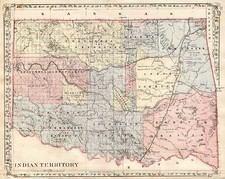 Plains and Southwest Map By Samuel Augustus Mitchell Jr.