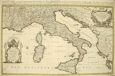 Europe, Balkans, Italy, Mediterranean and Balearic Islands Map By Alexis-Hubert Jaillot