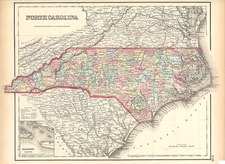 Southeast Map By Joseph Hutchins Colton