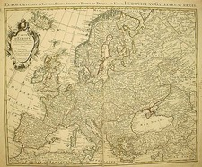 Europe and Europe Map By Johannes Covens  &  Pieter Mortier