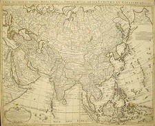 Asia and Asia Map By Johannes Covens  &  Pieter Mortier