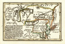 Mid-Atlantic, Midwest and Canada Map By John Gibson