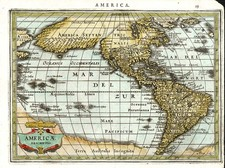 World, Western Hemisphere, South America and America Map By Jan Jansson  &  Abraham Goos