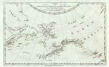 Alaska, Canada, Asia and Russia in Asia Map By James Cook