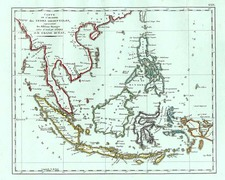 Asia, Southeast Asia and Philippines Map By Conrad Malte-Brun