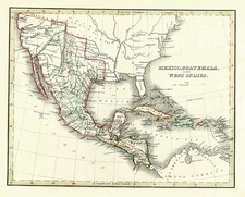 Texas, Southwest, Mexico and California Map By Thomas Gamaliel Bradford