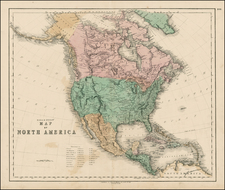 North America Map By Gall  &  Inglis