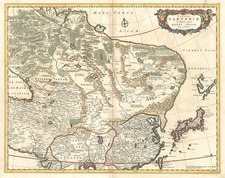 Asia, China, Japan, Central Asia & Caucasus and Russia in Asia Map By Frederick De Wit