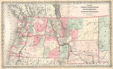 Plains, Rocky Mountains and Canada Map By G.W.  & C.B. Colton