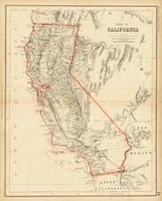 California Map By Henry Darwin Rogers  &  Alexander Keith Johnston