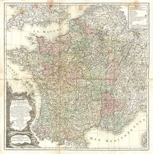 Europe and France Map By Louis Charles Desnos