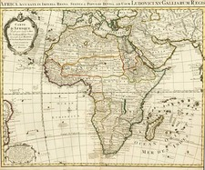 Africa and Africa Map By Johannes Covens  &  Pieter Mortier