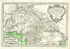 Asia, India and Central Asia & Caucasus Map By Jacques Nicolas Bellin