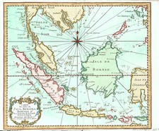 Asia and Southeast Asia Map By Jacques Nicolas Bellin